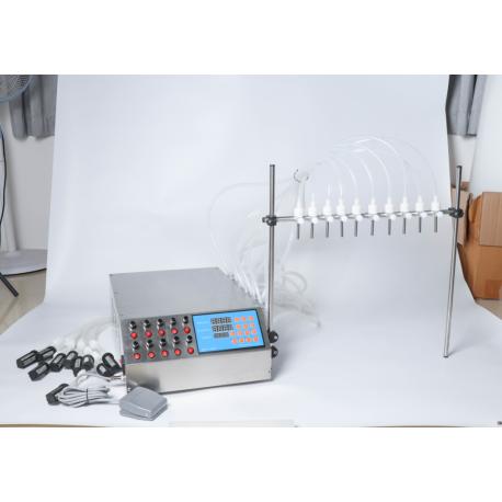 Félautomata folyadéktöltő gép, töltő gép – 0.5 ml – 500 ml – 10 fúvókával