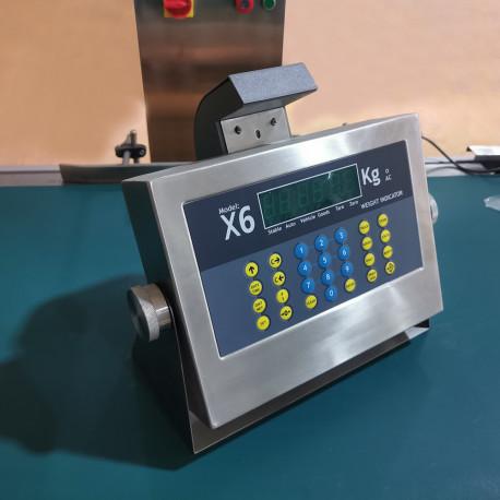 Digitális mérleg kijelző nyomtatóval