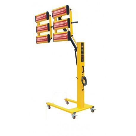 Infravörös festékszárító, infravörös szárítólámpa - 6600 W - 6 lámpa