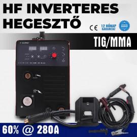 MIG/MAG/MMA inverteres hegesztő 280 A maximális áramerősséggel