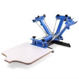 Kézi szitanyomó gép, textilnyomó karusszel - NS401