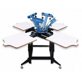 Kézi szitanyomó gép, textilnyomó karusszel - NS404-ESU