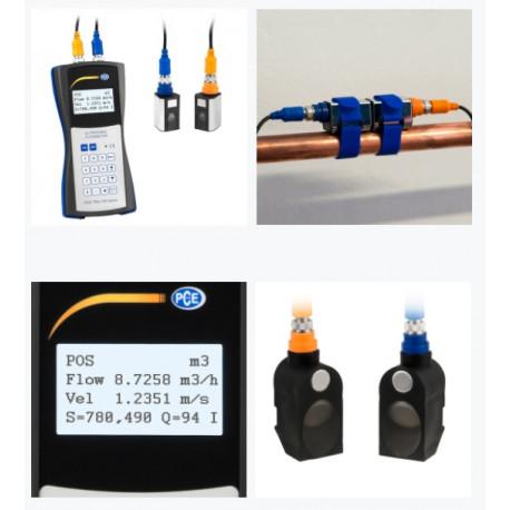 Ultrahangos áramlásmérő, átfolyásmérő - PCE-TDS 100HS