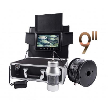 """Vízalatti kamera, horgász kamera Wi-Fi, 9"""", 100m kábel"""