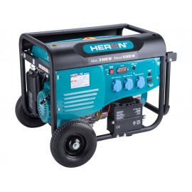 Heron benzinmotoros áramfejlesztő, aggregátor, 5,5kVA, egyfázisú, önindítós