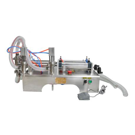 Pneumatikus folyadéktöltő gép szivattyúval, 2 fej
