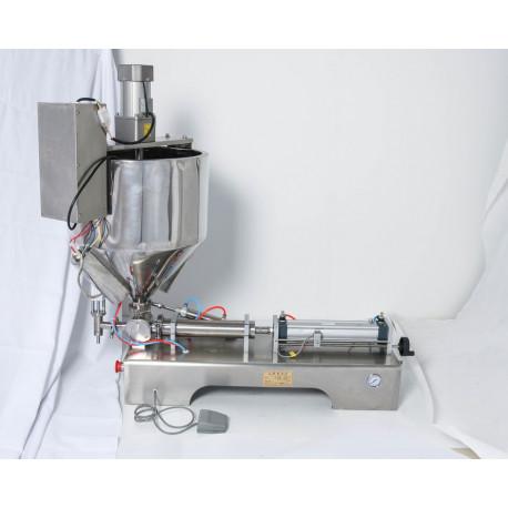 Pneumatikus töltőgép melegítő és keverő funkcióval