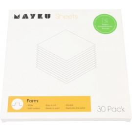 Mayku formázó (cast) lemezcsomag (30 db, 0,5 mm vastag, áttetsző, foodsafe PETG)