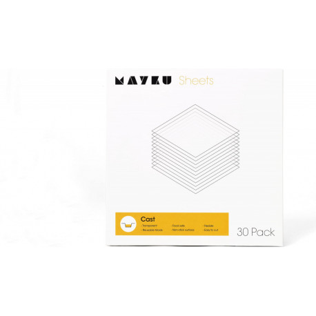 Mayku formázó (form) lemezcsomag (30 db, 0,5 mm vastag, fehér)