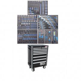 Profi standard műhelykocsi, szerszámos kocsi, szerszámos szekrény | 234 szerszámmal - BGS - 4113