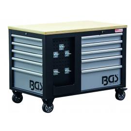 Műhelykocsi, szerszámos kocsi, szerszámos szekrény | 2 x 5 fiók | 1 szekrény | üres - BGS-4199