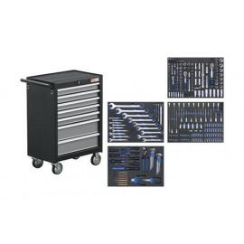 Műhelykocsi, szerszámos kocsi, szerszámos szekrény | 7 fiók | 354 szerszámmal - BGS-4209