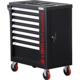 Műhelykocsi, szerszámos kocsi, szerszámos szekrény| 7 fiók | 1 oldalajtó | üres - BGS-6058-1