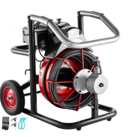 Duguláselhárító gép, csőtisztító gép -  Ø20-100mm, 370W, 13 mm
