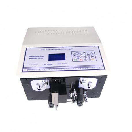 Automata kábelvágó és kábelnyúzó gép, dupla kábel feldolgozással: max. 2,5mm2, max. 50mm nyúzási hossz