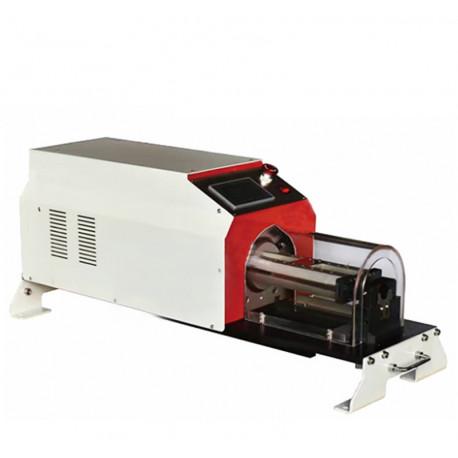 Félautomata pneumatikus forgókéses kábelnyúzó gép, max. 25mm/100mm