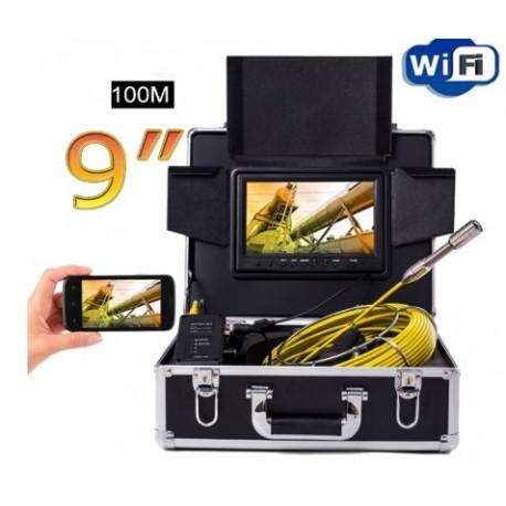 """Endoszkóp Wi-Fi, 9"""", 100m kábel"""