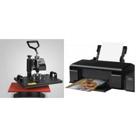 Szublimációs hőprés csomag (nyomtató, szublimációs festék és 8 in 1 hőprés)