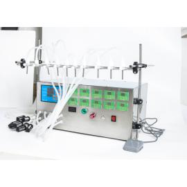 Félautomata folyadéktöltő gép, töltő gép – 10 fúvókával– 0.5 – 4000 ml