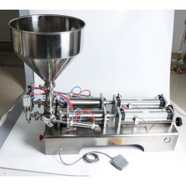 Pneumatikus folyadéktöltő gép – 2 adagoló fejjel– 50 – 500 ml
