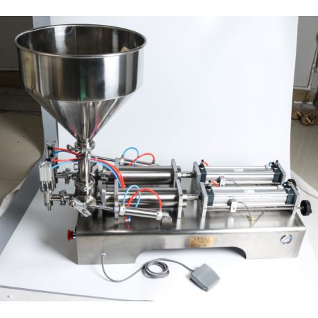 Pneumatikus folyadéktöltő gép – 2 csappal – 50 – 500 ml
