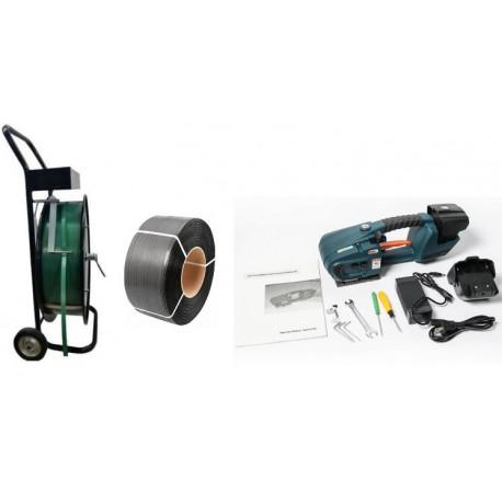 Akkumulátoros pántológép PET és PP pántokhoz